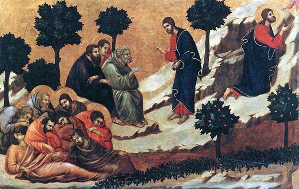Duccio: Maestà: l'agonie au jardin des Oliviers. 1308-1311. Tempera sur bois, 51 x 76 cm. Sienne, musée de l'Œuvre du Dôme