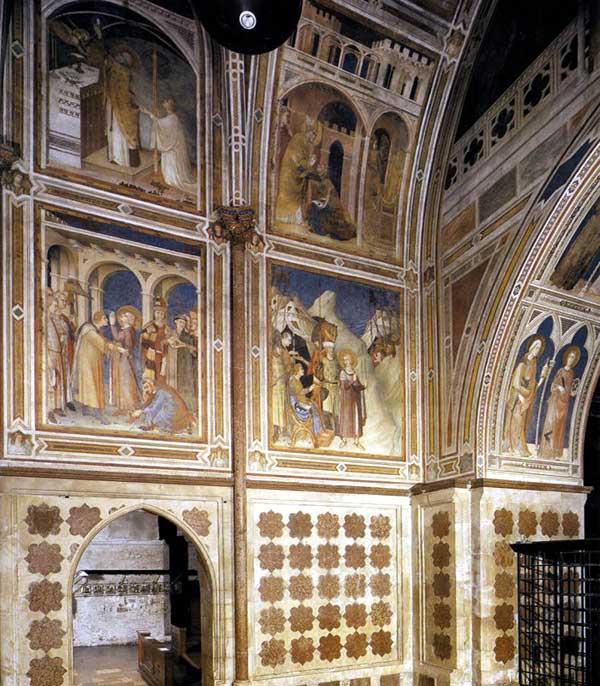 Simone Martini: vue de la chapelle de Saint Martin. Vers 1320. Fresque. Assise, église inférieure Saint François