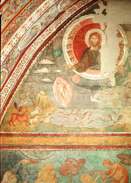 Filippo Rusuti: la création du monde. Fresque. Assise, basilique supérieure saint François
