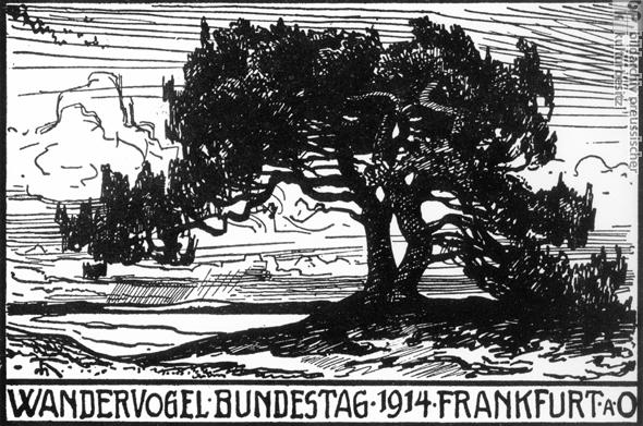 Affiche du mouvement « Wandervögel » de 1914
