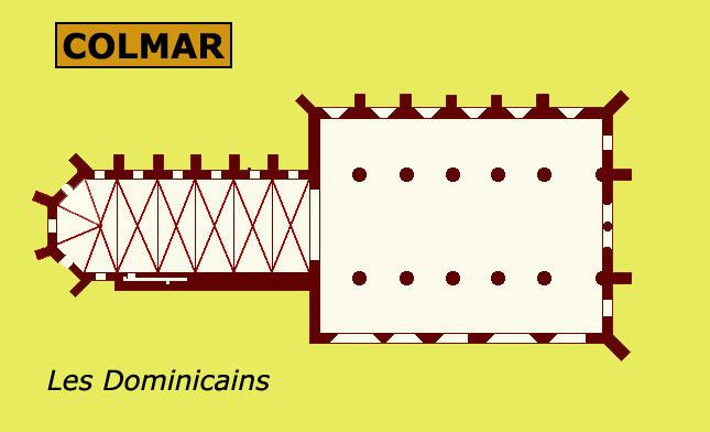 Plan de l'église des Dominicains de Colmar