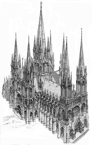Art gothique: la «cathédrale idéale» de Viollet Le Duc