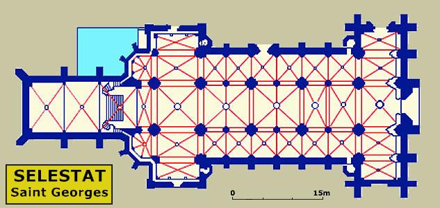 Plan de Saint Georges de Sélestat