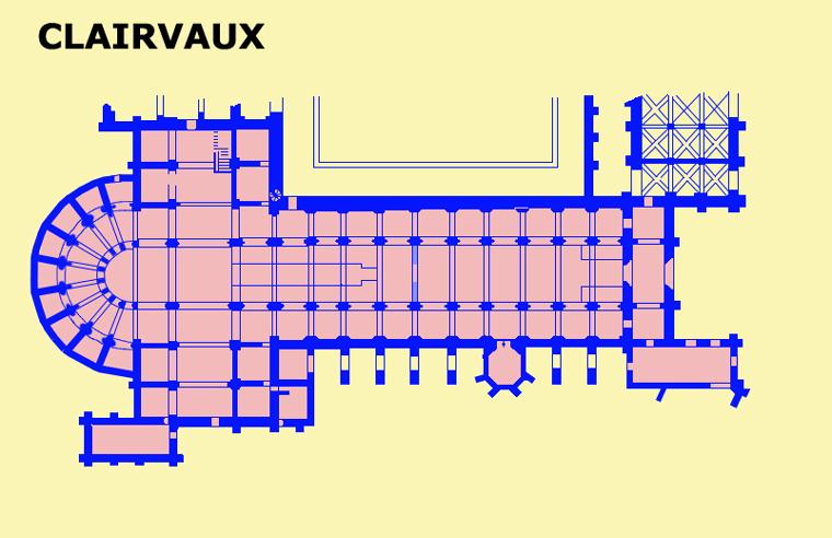 Plan de l'abbatiale de Clairvaux