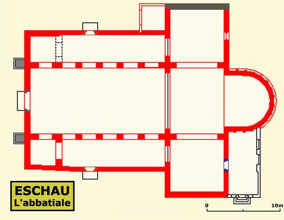 Plan de l'église d'Eschau
