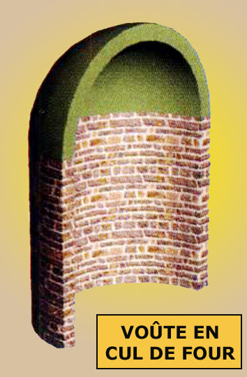 Architecture romane: voûte en demi-coupole ou «en cul de four». Elle est courante sur les absidioles