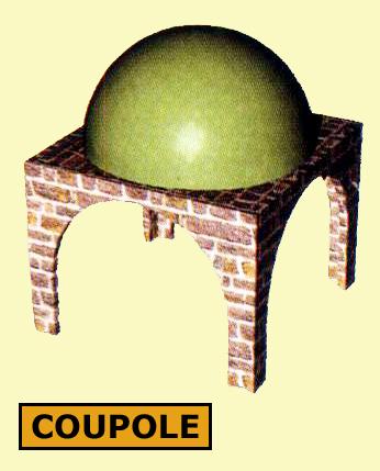 Architecture romane: voûte en coupole