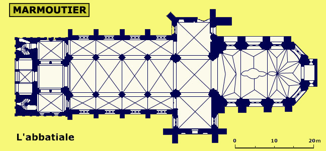 Plan de l'abbatiale de Marmoutier