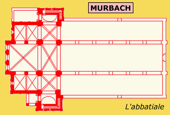 Plan de l'abbatiale de Murbach
