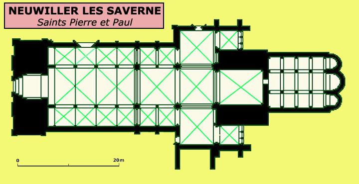 Plan de l'église saints Pierre et Paul de Neuwiller les Saverne