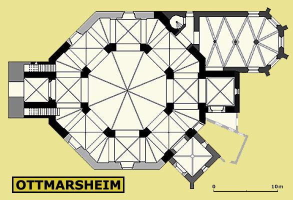 Plan de l'octogone d'Ottmarsheim