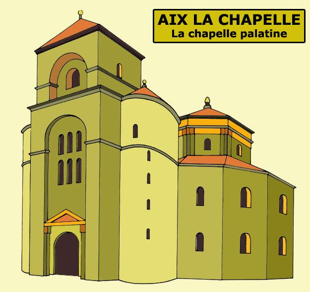 Aix la Chapelle: restitution de la chapelle palatiale