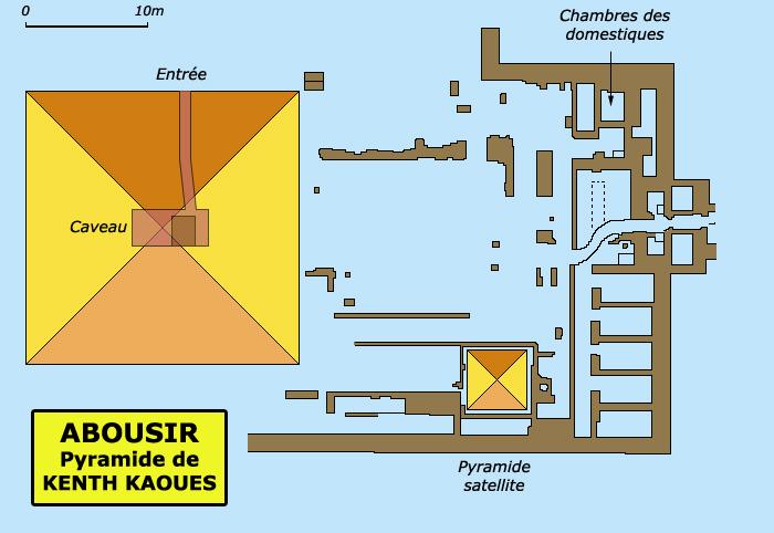 Abousir: pyramide de Khent – Kaouès, Vè dynastie. (Site Egypte antique)