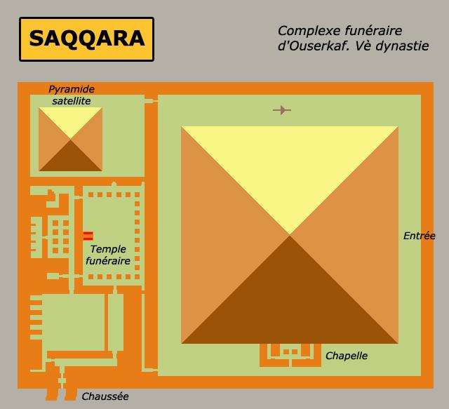 Saqqara: le complexe funéraire d'Ouserkaf, Vè dynastie. (Site Egypte antique)