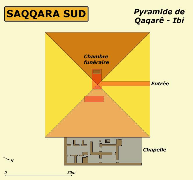 Saqqara: plan de la pyramide de Qaqarè – Ibi. (Site Egypte antique)