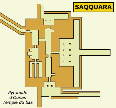 Saqqara: temple de la vallée de l'ensemble funéraire d'Ounas. (Site Egypte antique)
