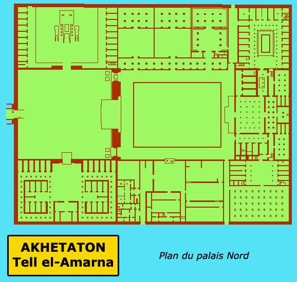Akethaton – Telle el Amarna: plan du palais de la cité du Nord. (Site Egypte antique)