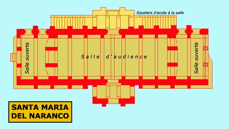 Santa Maria del Naranco. Plan. Vers 845