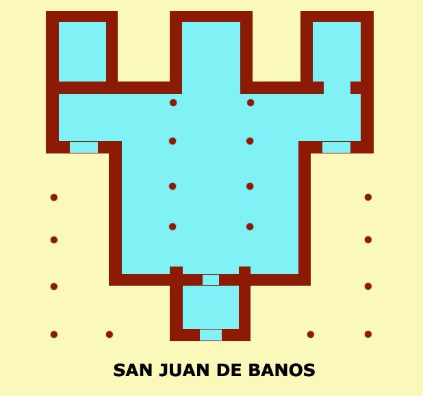 San Juan Bautista de Baños (Province de Palencia). Plan de l'édifice