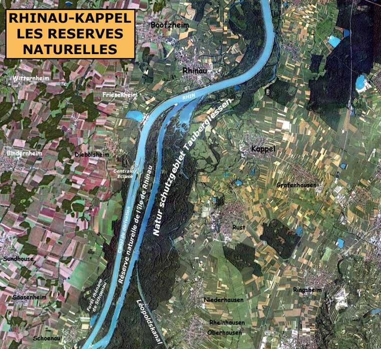 Rhinau - Kappel les réserves naturelles du Taubergiessen et de l'Ile de Rhinau