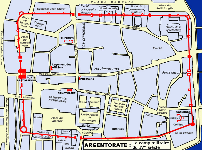 Carte de l'Alsace romane