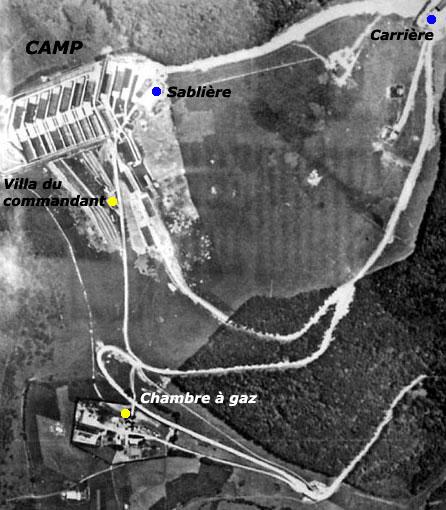 Natzwiller – Struthof: vue aérienne du camp en date du 19 juillet 1944