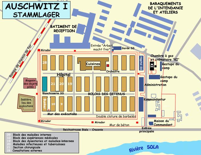 Auschwitz: plan du Stammlager