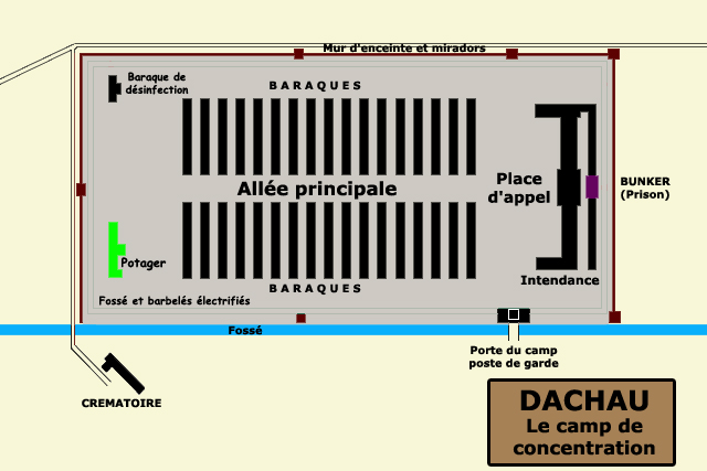 Dachau : plan du camp