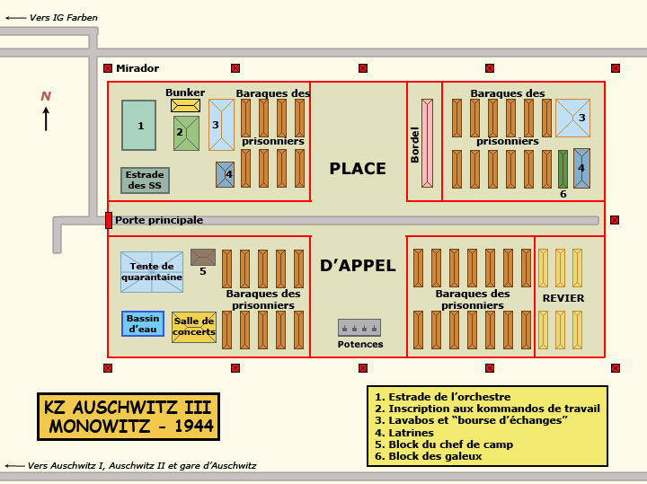 AuschwitzIII Monowitz: usine Buna: plan