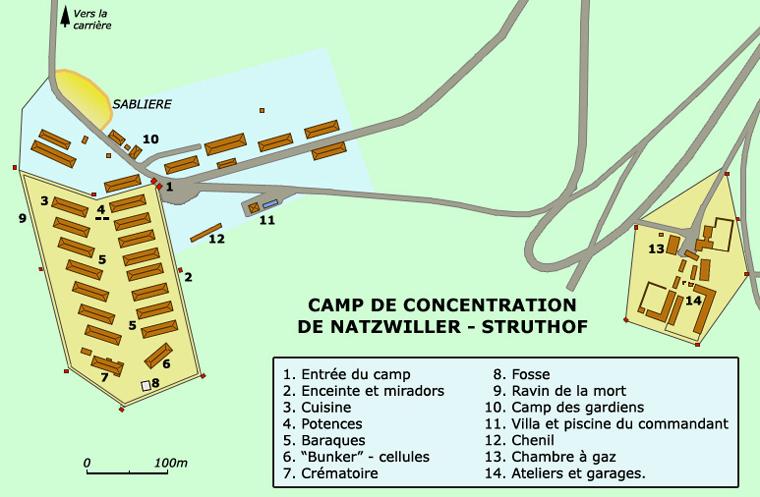 Natzwiller – Struthof: plan de situation générale du camp