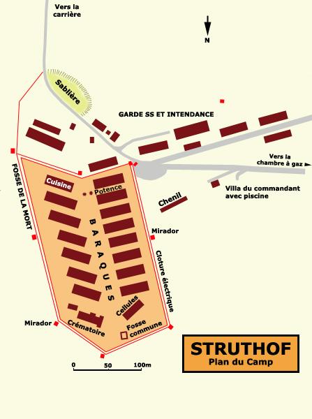 Natzwiller – Struthof: plan du camp et de la zone SS
