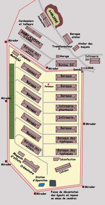 Natzwiller – Struthof: plan du camp