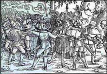 La guerre des paysans, 1525. Gravure