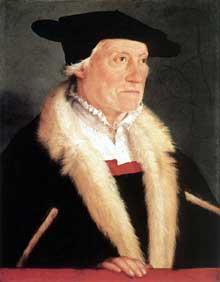 Christophe Amberger (1505-1562): portrait de Sébastien Münster. Vers 1552. Huile sur bois, 54 x 42 cm. Berlin, Staatliche Museen