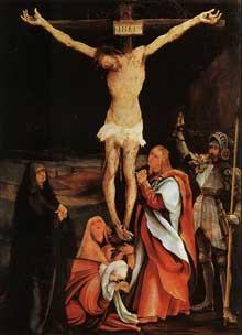 Crucifixion. Vers 1501. Huile sur bois, 73 x 52,5 cm. Bâle, Öffentliche Kunstsammlung