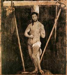 Le triptyque de Lindenhardt. Les 40 saints (détail) 1503. Huile sur bois. Eglise de Lindenhardt