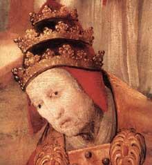 Triptyque d�Aschaffenbourg. Fondation de sainte Marie Majeure � Rome�; miracle des neiges. D�tail. 1517-1519. Huile sur bois. Fribourg en Breisgau, St�dtische Museen