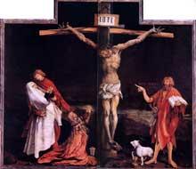 Retable d'Issenheim. Polyptyque fermé. La Crucifixion. Vers 1515. Huile sur bois. Colmar, Musée Unterlinden