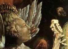 Retable d'Issenheim. Polyptyque ouvert I. Partie centrale: le concert des anges.Vers 1515. Huile sur bois. Musée d