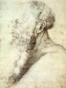 Portrait de Guido Guersi. 1512-1514. Dessin, 341 x 253 cm. Weimar Schlossmuseum