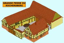Grande ferme en U du Kochersberg. (La maison alsacienne)