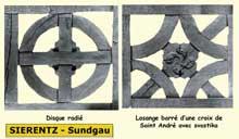 Structure du colombage : décors symboliques. Sierentz, Sundgau. (La maison alsacienne)