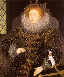 Nicholas Hilliard: Elizabeth I d'Angleterre en hermine. 1585. Collection privée