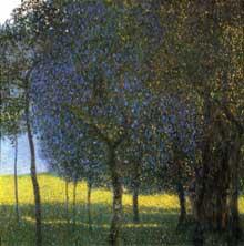 Gustav Klimt. Arbres fruitiers. 1901. Huile sur toile. 90 x 90 cm. Collection privée