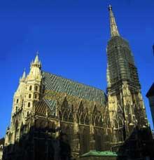Vienne, la cathédrale saint Etienne. Vue générale
