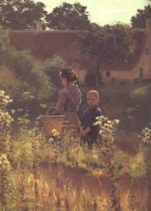 Emile Claus (1849-1924): la Lys à Astene. Besançon, musée des Beaux Arts