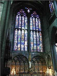 Huy, la collégiale Notre Dame. Le Transept