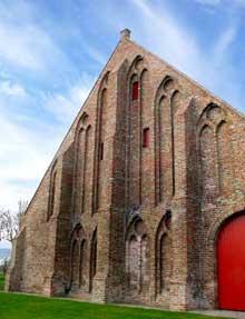 Ter Doest, abbaye cistercienne dans la région de Bruges. La grange