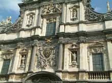 Anvers: façade de Saint Charles Borromée