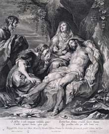 Paulus Pontius : la lamentation du Christ. Londres, Royal Academy of Arts